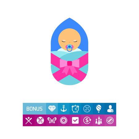 Neugeborenes Baby Icon