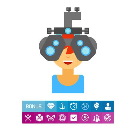 Optometrist at work icon