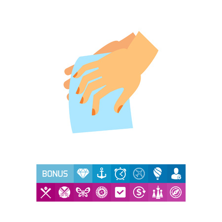 Drying Hands Icon