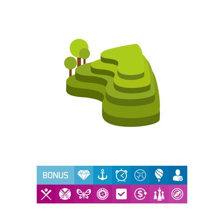 Green rice terraces icon Ilustração