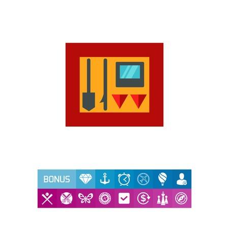 Firefighting tools icon
