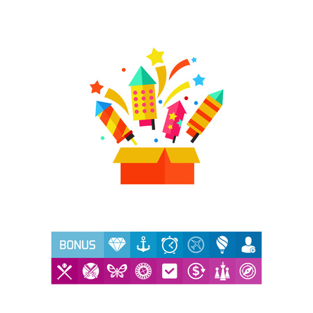 Fireworks box icon