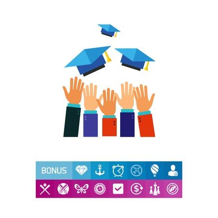 Chapeau haut icône Banque d'images - 83257607