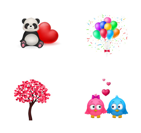 festive occasions: Love and childhood icon set Illustration
