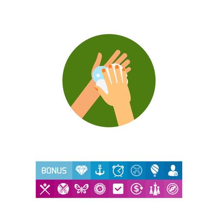 lavamanos: Manos hacer espuma de jabón Icono