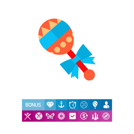 Icon of bright baby icon. Child, nursing, game. Baby toy concept. Can be used for topics like childhood, parenthood
