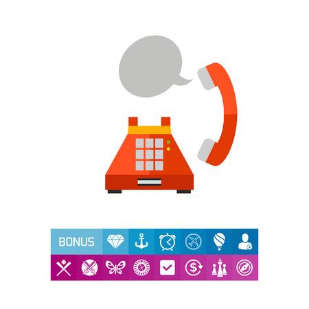 old telephone: Landline phone conversation icon