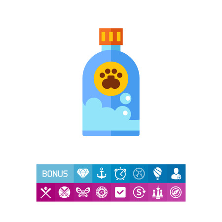 cat grooming: Pet shampoo icon Illustration