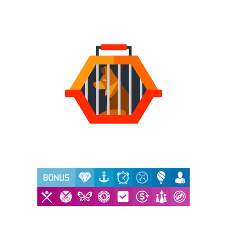 Pet travel crate icon Illustration