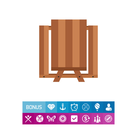 friend nobody: Picnic table icon Illustration