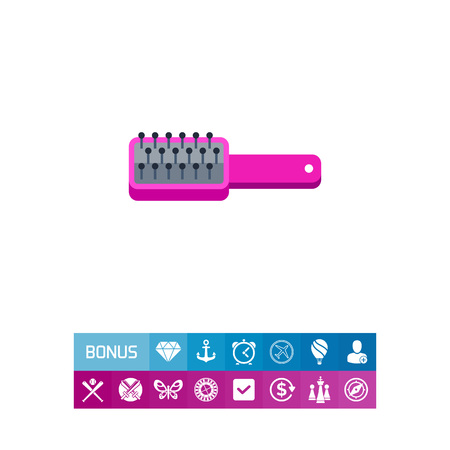 modern bathroom: Pink style comb icon