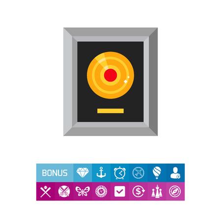 Platinum lp in silver frame icon Banque d'images - 83319867