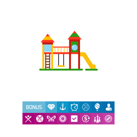 Playground for kids vector icon