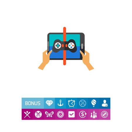touchpad: Playing game on touchpad icon