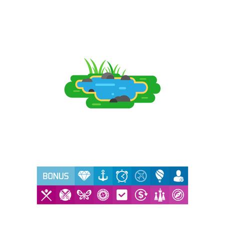 Pond vector icon Ilustração
