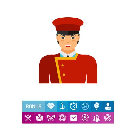 Porter in uniform vector icon