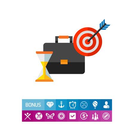 puntualidad: Icono del concepto de gestión del tiempo Vectores