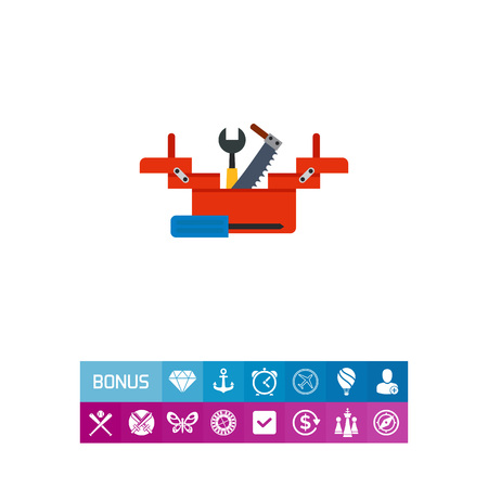 open toolbox clipart. open tool box toolbox with wrench screwdriver and saw icon illustration clipart