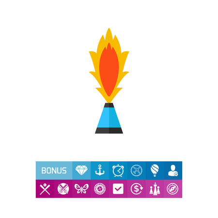 Vector icon of burning pyrotechnic fountain. Party, festival, fun. Firework concept. Can be used for topics like entertainment, pyrotechnics, holiday Illustration