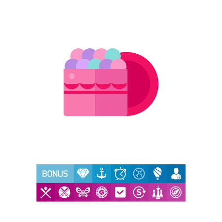 Icon of rouge box. Blush, complexion, powder. Make-up concept. Can be used for topics like beauty, visage, cosmetics