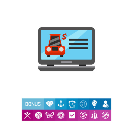 Icon Of Selling Cars Website Renting Insurance Transportation