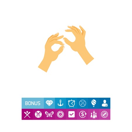 Icon of sign language. Deafness, talking, interpreter. Handicap concept. Can be used for topics like audiology, communication, disability