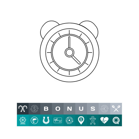 sounding: Alarm Clock with Bells Icon Illustration