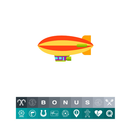 red balloons: Airship Vector Icon Illustration