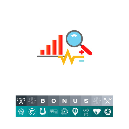 Analysis Concept Icon with Graph Illustration