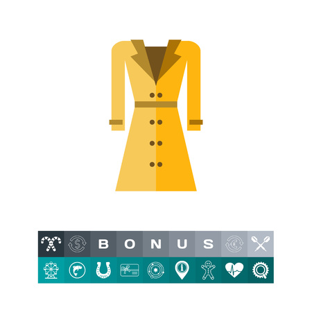 dressing: Beige woman raincoat icon
