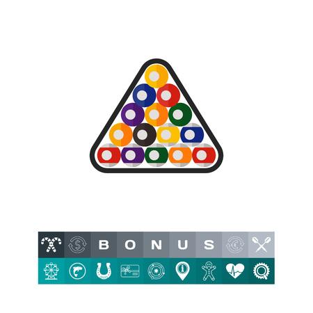 Boules de billard en triangle