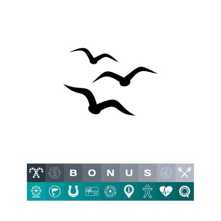Birds simple icon Illustration