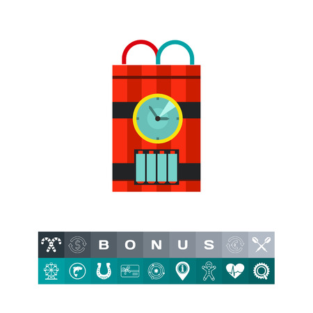 fire wire: Bomb with Timer Vector Icon Illustration