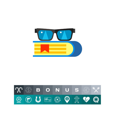 Book with Glasses Icon