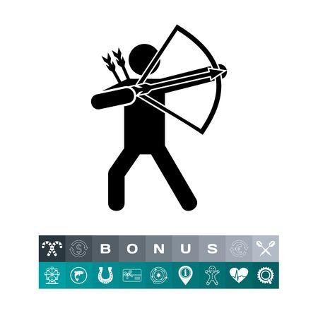 Bow Man Simple Icon Illustration