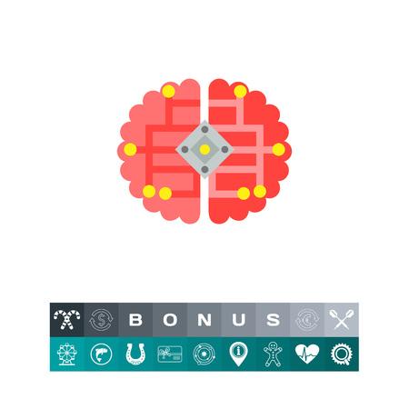 cybernetics: Brain as Cybernetics Concept Icon