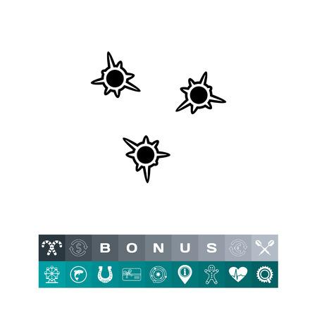Los agujeros de bala icono simple