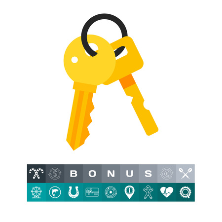locksmith: Bunch of Keys Icon Illustration