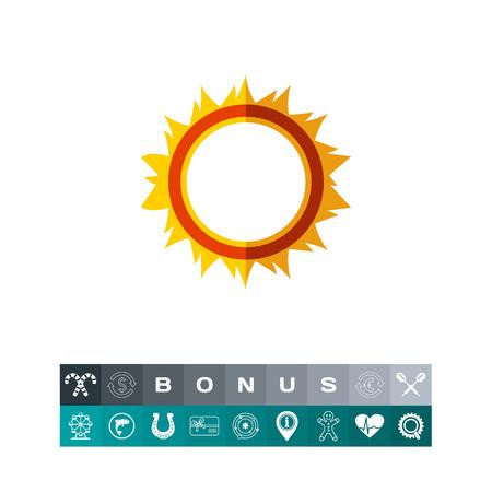 Burning hoop icon