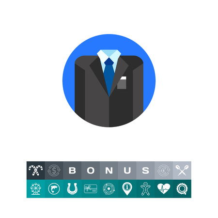 Business Style Concept Icon with Suit Illustration