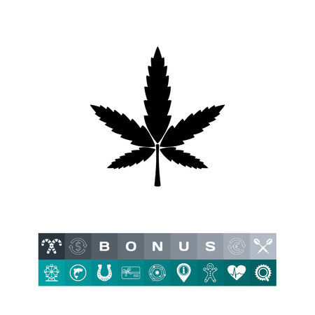 Cannabis simple icon Illustration