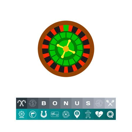 Casino Roulette Icon illustration.