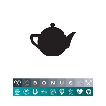 Ceramic teapot  icon. Vector illustration.