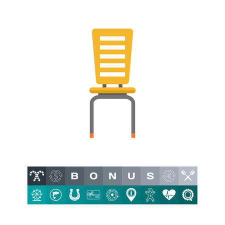 comfort classroom: Chair icon. Vector illustration.