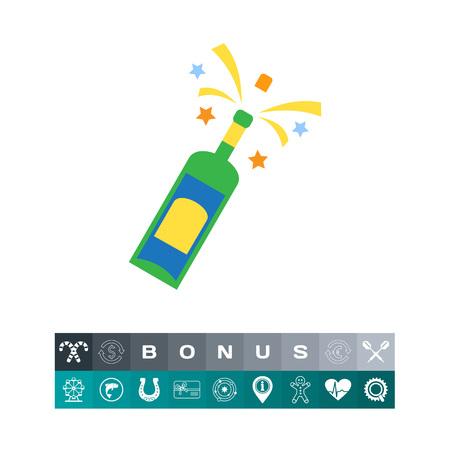 Champagne bottle. Vector illustration. Illustration