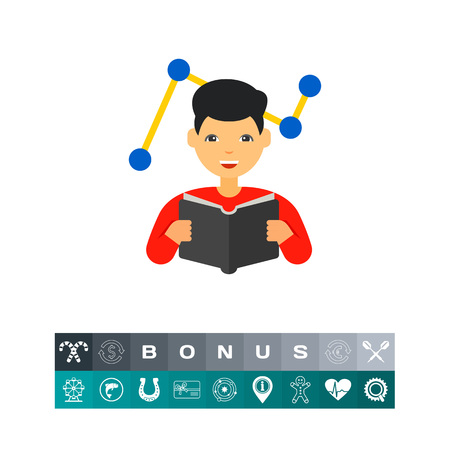 Changes Adaptation Concept Icon with Man. Vector illustration. Illustration