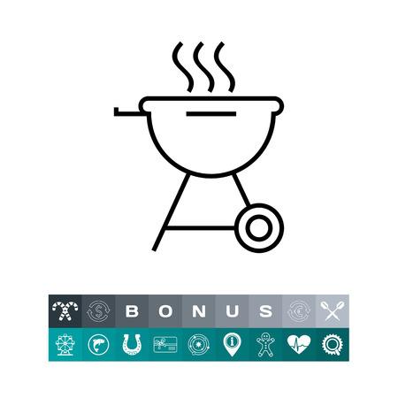 Charcoal grill icon. Vector illustration. Illustration
