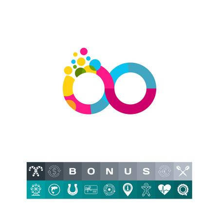 Kleurrijk Infinity Sign Icon Stock Illustratie