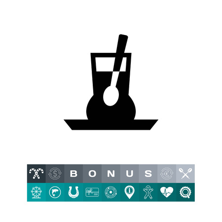 Cup with spoon icon Ilustrace