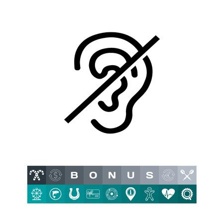Deaf Sign Icon Ilustração